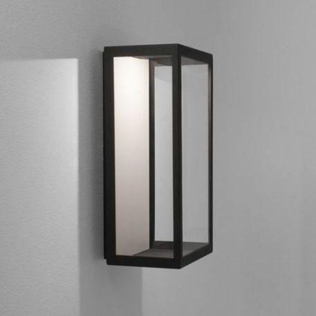 Lampa zewnętrzna klasyczny transparentny, Czarny  - Sypialnia
