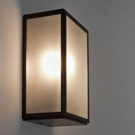 Lampa zewnętrzna - mleczne szkło, czarny metal - Astro
