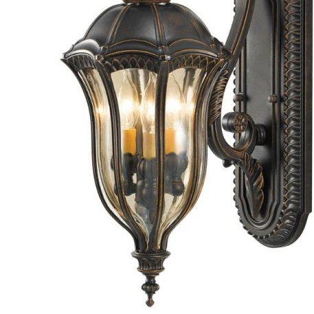 Lampa zewnętrzna - orzechowy brąz, szkło - Ardant Decor