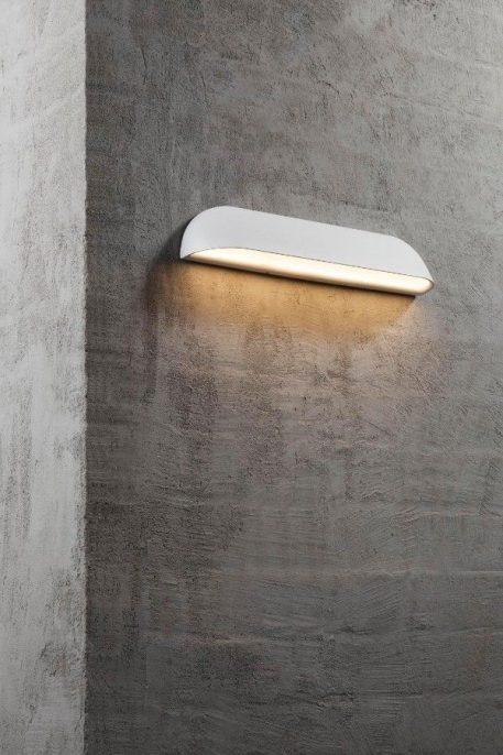 Lampa zewnętrzna Styl nowoczesny biały  - Łazienka