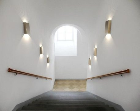 Lampa zewnętrzna - Styl nowoczesny - mosiądz, złoty -  - Salon