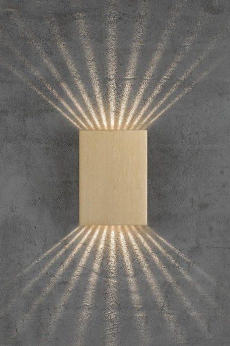 Lampa zewnętrzna Styl nowoczesny mosiądz, złoty  - Salon