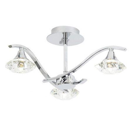 Langella Lampa sufitowa – szklane – kolor srebrny