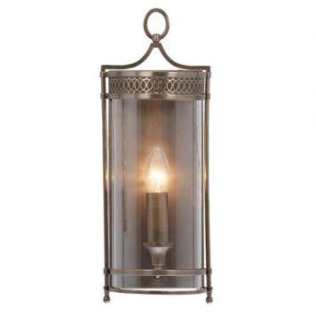 Lantern Kinkiet – szklane – kolor brązowy