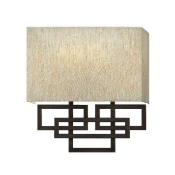 Lanza  Lampa nowoczesna – Styl nowoczesny – kolor beżowy, brązowy, mat