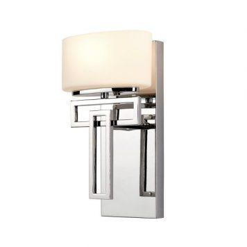 Lanza Lampa nowoczesna – szklane – kolor biały, srebrny
