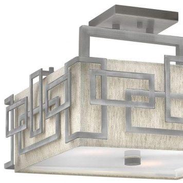 Lanza Plafon – klasyczny – kolor beżowy, srebrny