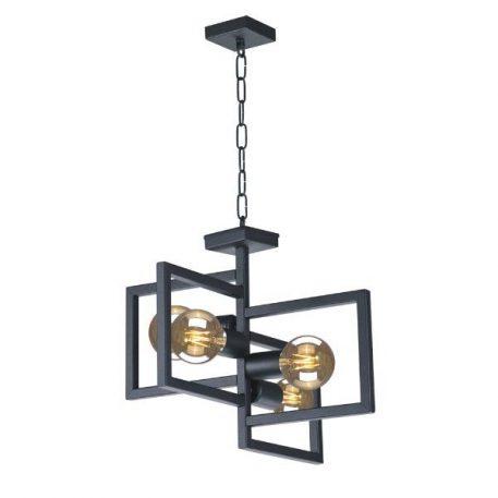 Lavaya  Lampa wisząca – industrialny – kolor Czarny