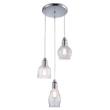 Lavi Lampa wisząca – klasyczny – kolor srebrny, transparentny