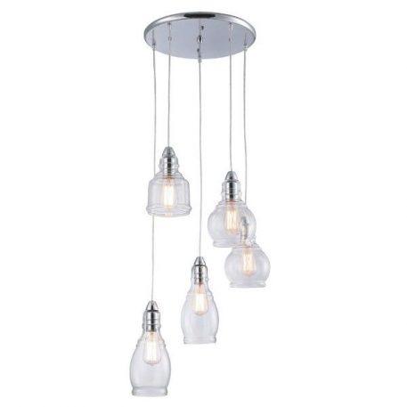 Lavi Lampa wisząca – Styl nowoczesny – kolor srebrny, transparentny