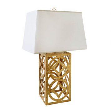 Lee Circle Lampa modern classic – Styl modern classic – kolor biały, złoty