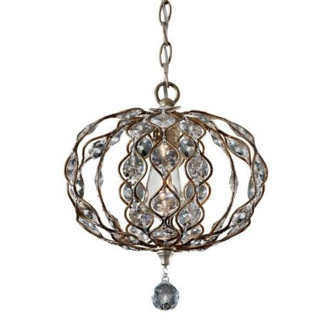 Leila  Lampa wisząca – kryształowe – kolor srebrny