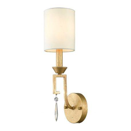 Lemuria Lampa klasyczna – Z abażurem – kolor biały, złoty