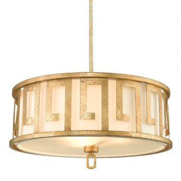 Lemuria Lampa wisząca – Z abażurem – kolor biały, złoty