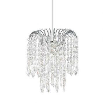 Levens Lampa wisząca – kryształowe – kolor srebrny, transparentny