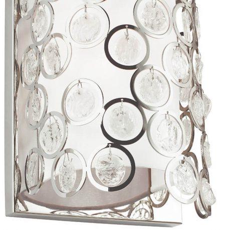 Lexi Lampa glamour – Styl glamour – kolor biały, srebrny