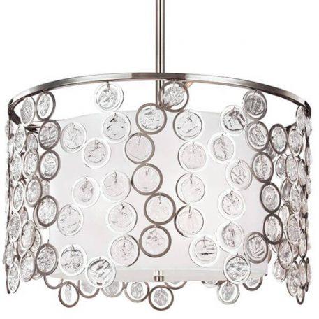 Lexi Lampa wisząca – Z abażurem – kolor biały, srebrny