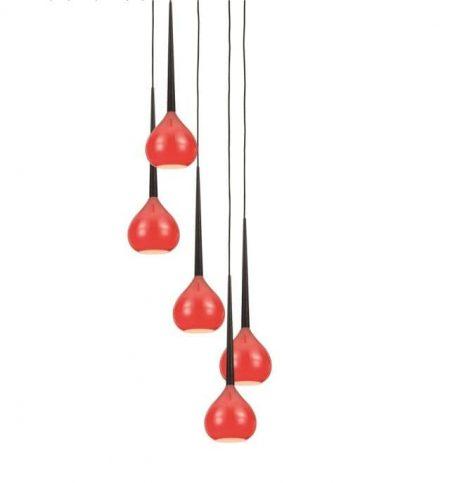 Libra Lampa wisząca – Styl nowoczesny – kolor Czerwony
