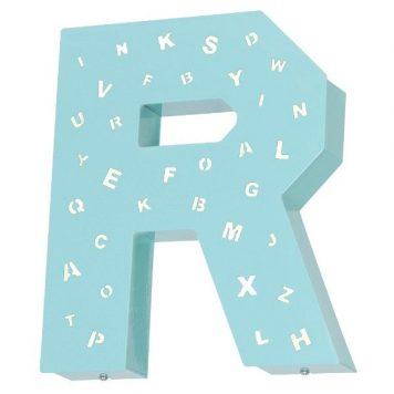 Literka R  Kinkiet – kolor Niebieski