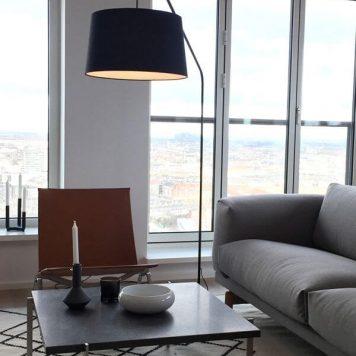 Lobby Lampa podłogowa – Z abażurem – kolor Czarny