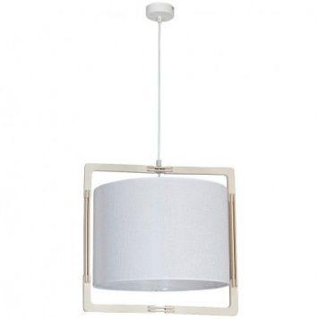 Loki  Lampa wisząca – Drewniane – kolor biały, brązowy