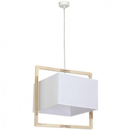 Loki  Lampa wisząca – Z abażurem – kolor biały, brązowy