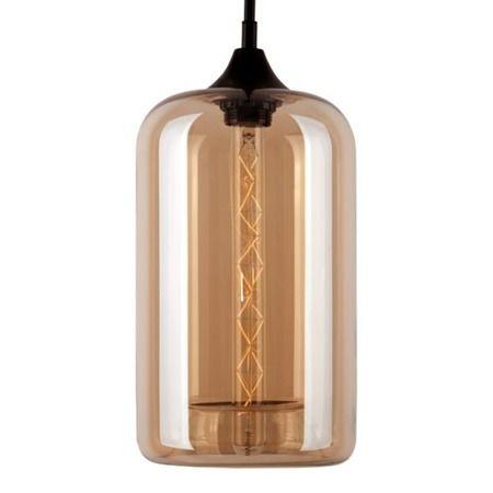 London Loft Lampa wisząca – Styl skandynawski – kolor beżowy, transparentny