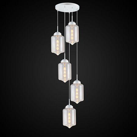 London Loft  Lampa wisząca – szklane – kolor biały, transparentny