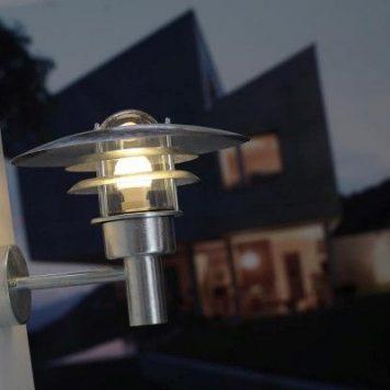 Lonstrup 32 Lampa zewnętrzna – Styl nowoczesny – kolor srebrny