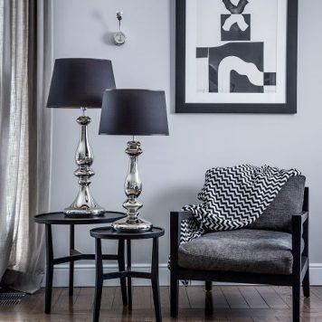 Louvre  Lampa modern classic – Styl modern classic – kolor srebrny, Czarny