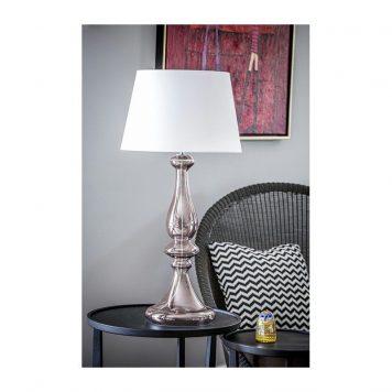 Louvre  Lampa stołowa – Styl modern classic – kolor biały, miedź