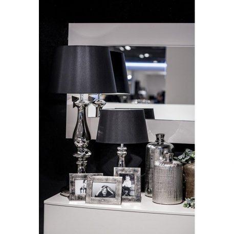 Louvre Platinum Lampa stołowa – szklane – kolor miedź, srebrny, Czarny