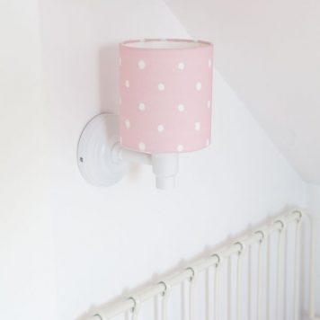 Lovely dots Kinkiet – Z abażurem – kolor różowy