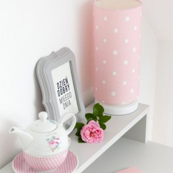 Lovely Dots Pink Lampa stołowa – Z abażurem – kolor różowy
