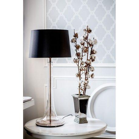 Lozanna  Lampa nowoczesna – Styl modern classic – kolor połysk, transparentny, Czarny
