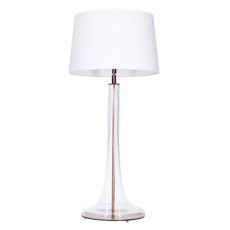 Lozanna  Lampa nowoczesna – Z abażurem – kolor biały, transparentny