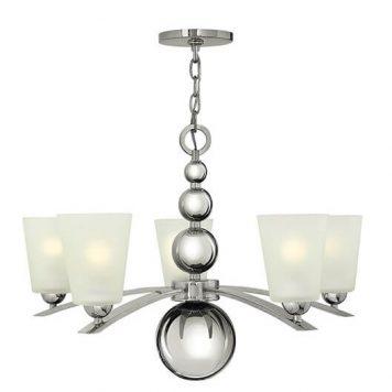 Lucy Żyrandol – Styl nowoczesny – kolor biały, srebrny