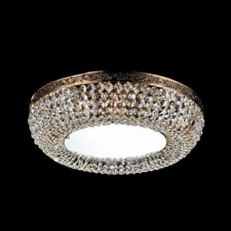Luna  Plafon – kryształowe – kolor transparentny, złoty