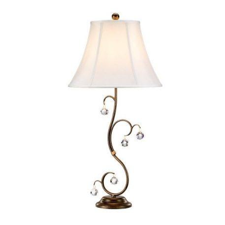 Lunetta  Lampa stołowa – Z abażurem – kolor biały, brązowy