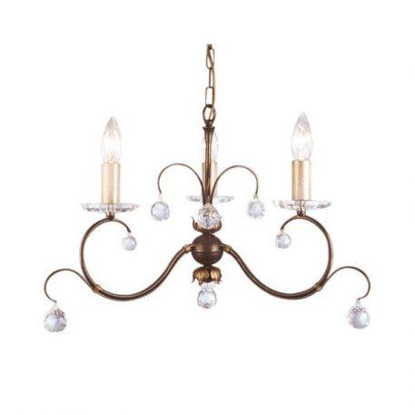 Lunetta  Żyrandol – Styl glamour – kolor brązowy