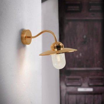 Luxembourg Lampa zewnętrzna – szklane – kolor miedź
