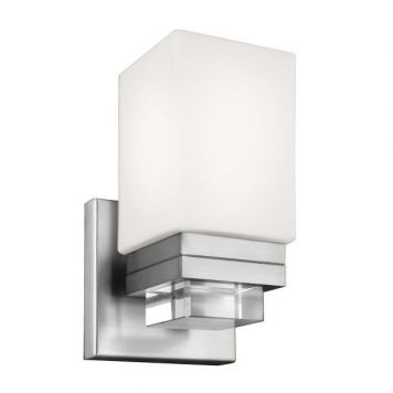 Maddison Lampa nowoczesna – szklane – kolor biały, srebrny
