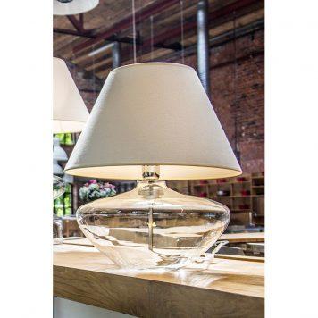 Madrid  Lampa nowoczesna – Styl modern classic – kolor biały, transparentny