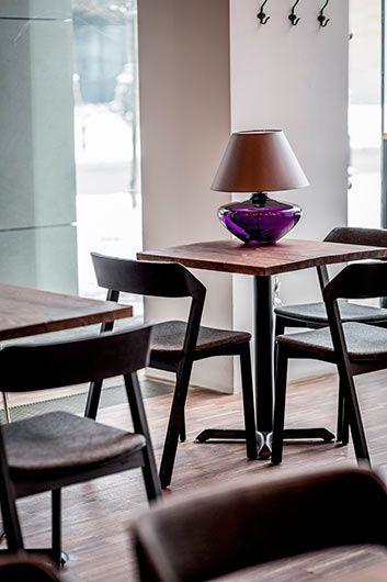 Madrid  Lampa nowoczesna – szklane – kolor Czarny, Fioletowy