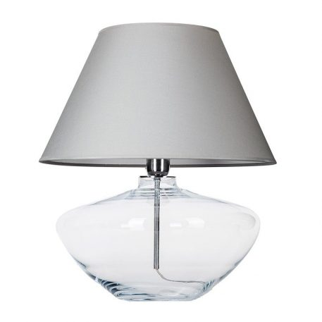 Madrid  Lampa nowoczesna – Z abażurem – kolor transparentny, Szary