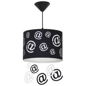 Mail  Lampa wisząca – kolor biały, Czarny