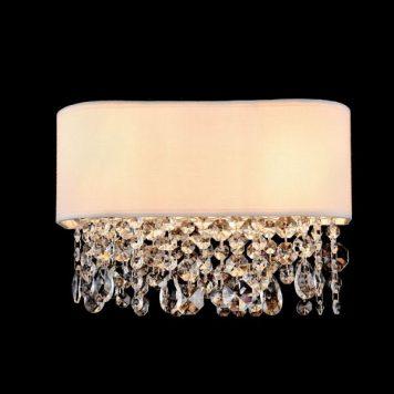 Manfred  Lampa glamour – kryształowe – kolor biały