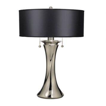 Manhattan Lampa modern classic – klasyczny – kolor srebrny, Czarny