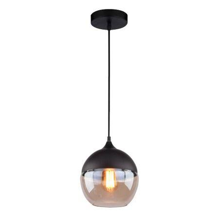 Manhattan  Lampa wisząca – Styl nowoczesny – kolor beżowy, transparentny, Czarny