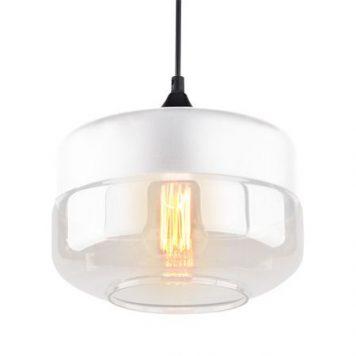 Manhattan  Lampa wisząca – Styl nowoczesny – kolor biały, transparentny